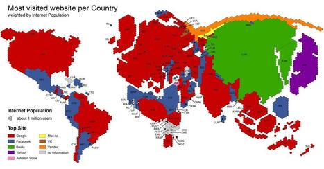 Google Vs. Facebook: A Map Of Global Conquest | Intresting | Scoop.it