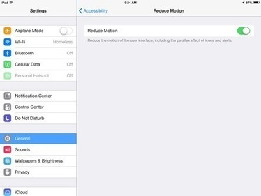 How To Reduce Motion / Parallax Effects in iOS 7 | OT mTool Kit | Scoop.it