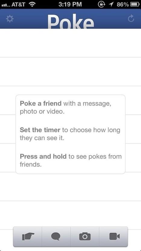 Facebook lance l'application Poke sur iPhone/iPad | simohamed mouslih | Scoop.it