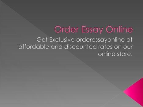 Don't worry about placing an order online to get all the essays that you need. Because trust us, it is quite safe to do so   Order Essay Online   Scoop.it