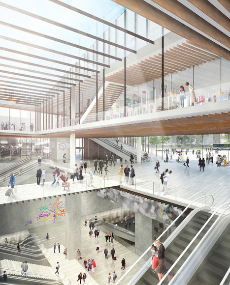 Kengo Kuma unveils railway station for the GRAND PARIS express | The Architecture of the City | Scoop.it