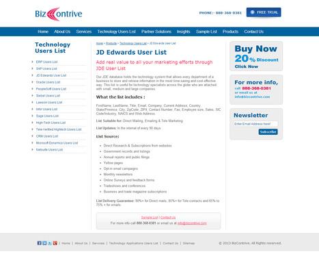 Purchase JD Edwards Customers List from Bizcontrive | Bizcontrive | Scoop.it