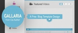 Gallaria - Free Blog Template Design From CSS Author - Freebie No: 44 | Website Design Template PSD | Scoop.it