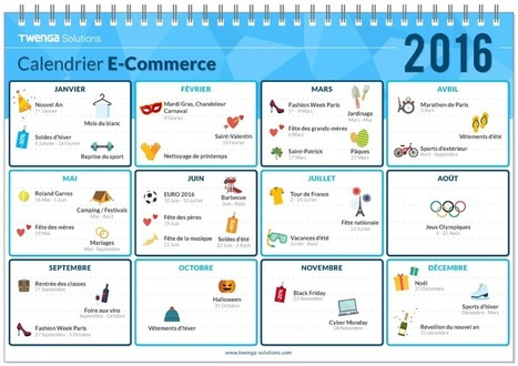 Ecommerce et Réseaux Sociaux : 38 évènements et thèmes pour 2016 | E-commerce - Réseaux sociaux | Scoop.it