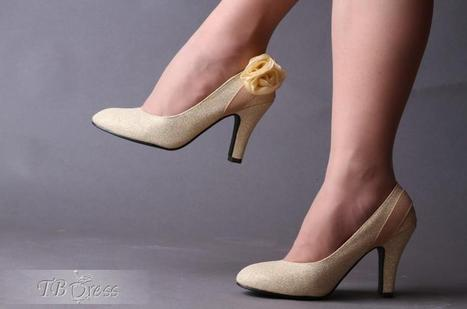 $ 32.89 Cloth Upper Mid Heel Wedding/Party Shoes | fashion | Scoop.it