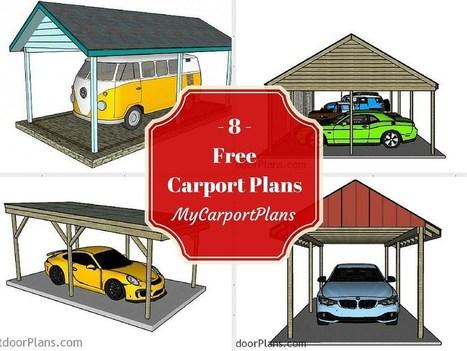 8 Free Carport Plans | Carport plans | Scoop.it