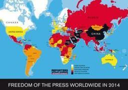 U.S. drops in press freedom ranking, to #46 out of 180 countries measured | Special Purpose Maps | Scoop.it