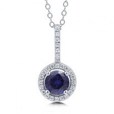 BERRICLE - Sapphire Cubic Zirconia CZ 925 Sterling Silver Halo Pendant Necklac | Berricle Necklaces | Scoop.it