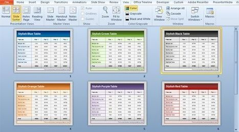 Free Table Templates for PowerPoint   why not?   Scoop.it