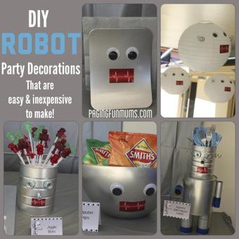 Robot Party Decoration Ideas | Fiestas & Fêtes pour les petits | Scoop.it