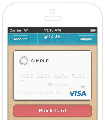 Simple - Online Banking With Automatic Budgeting & Savings | Finance start-ups | Scoop.it