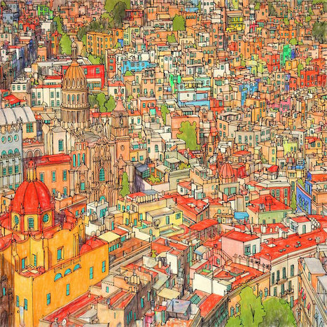 Highly Detailed #Colouring #Book For Adults Features #Famous #World #Cities | Luby Art | Scoop.it