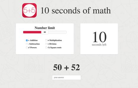 10 secondes de mathématiques | Pédagogie | Scoop.it