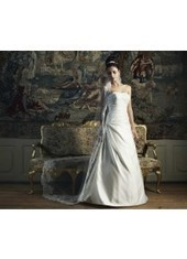 A Line Strapless Court Train Satin Ivory Wedding Dress H1ly0019 for $957 | Landybridal 2014 wedding dress | Scoop.it
