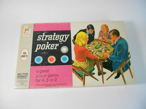1968 Strategy Poker Game Milton Bradley by OldVintageGoodies | Antiques & Vintage Collectibles | Scoop.it