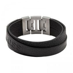Bijoux - Bracelets - Bracelet FOSSIL Homme Acier et Cuir noir Finition satinée - JF84818040 | Bijoux Extraordinaires | Scoop.it