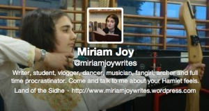 """Welcome Guest Teen Author, """"Motivator"""" Miriam Joy 