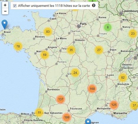 Ou peut on faire du  WWOOFING en France ?   Les cartes des Alternatives - Géographie de la transition   Scoop.it