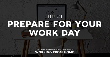 Tips for Staying Productive While Working From Home | Illustrators, artists, photographers | Scoop.it