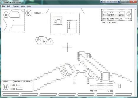 Modern Warfare 2 in Notepad | ASCII Art | Scoop.it