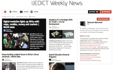 Nov 1 - IJEDICT Weekly News is out | Studying Teaching and Learning | Scoop.it