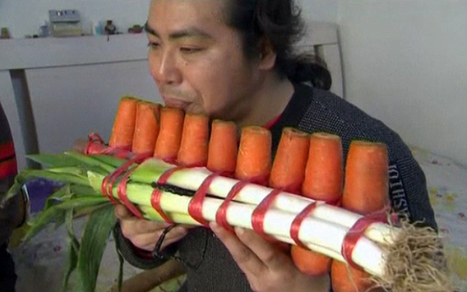 Chinese brothers create orchestra from market vegetables - Telegraph | talent show | Scoop.it