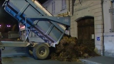 Dordogne : Du fumier sur les trottoirs pour manifester le désarroi des agriculteurs | Agriculture en Dordogne | Scoop.it