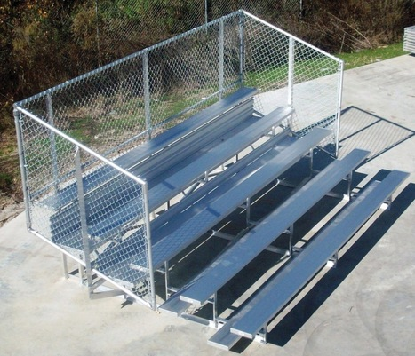 ALUMINUM FRAME SPORTS BLEACHER WITH CHAIN LINK FENCE - Bleachers - Product | Commercial Playground Equipment | Scoop.it