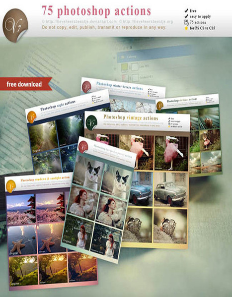 50 Free Photoshop Actions to add Stunning Effects in photos   all is design   Scoop.it