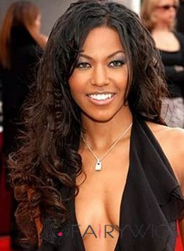 Sparkling Long Wavy Sepia African American Lace Front Wigs for Women : fairywigs.com | African American Wigs | Scoop.it