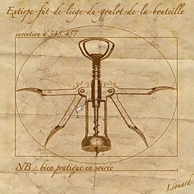 Léonard de Vinci et son tire-bouchon de Vitruve   Les Amis du Tire-bouchon   Scoop.it