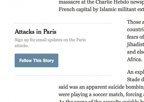 The New York Times is using Paris email updates to explore a new method of interaction with readers | DocPresseESJ | Scoop.it