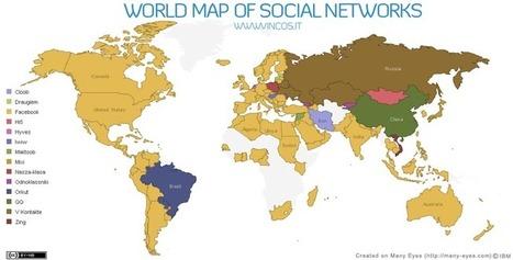 Géographie des réseaux sociaux : approches cartographiques — EducTice | Communication territoriale, de crise ou 2.0 | Scoop.it