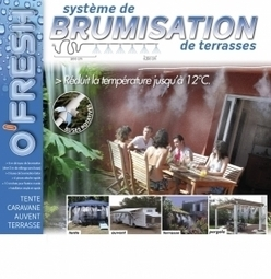 Kit système de brumisation 6 M pour terrasse de jardin - Equipé de 6 buses O'FRESH ® - Deco Maison | Idées décoration maison | Scoop.it