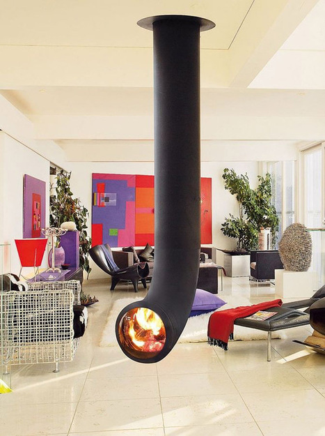 15 Modern Fireplaces To Warm Your Cozy Home   DesignRulz   No Place Like Home   Scoop.it