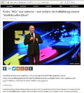 """M of A - Russia Today Plagiarizes Moon of Alabama - Which Is The """"Russian Propaganda Outlet""""? 