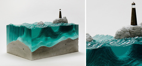 Sheets of Glass Cut into Layered Ocean Waves by Ben Young | Art Installation | Scoop.it