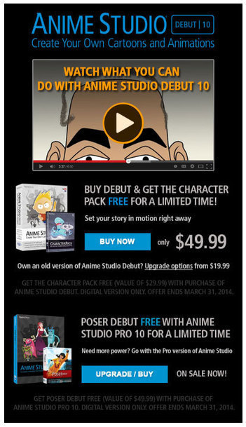Introductory Offer. Anime Studio Debut 10 and Get Character Content Pack Free | Machinimania | Scoop.it