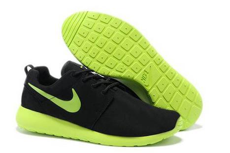 Nike Roshe Run Premium Shoe Black Sport Green Volt Mens | popular list | Scoop.it