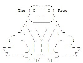 ASCII Art Frog | ASCII Art | Scoop.it