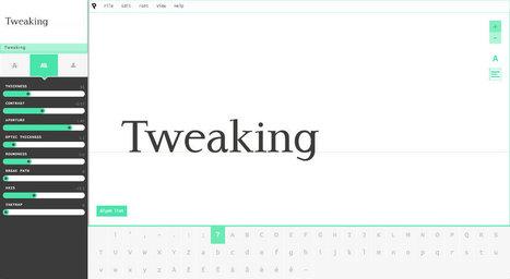 Prototypo : les typographes ont du souci à se faire ! - Oeuf Bleu Blog | graphic-design | Scoop.it
