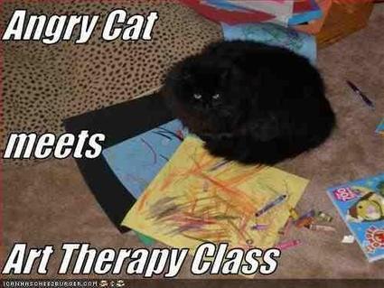 Twitter / ArtTherapiesDir: Angry cat meets art therapy ... | Healing Arts | Scoop.it