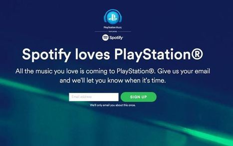 Spotify arrives on PlayStation in 41 territories - Music Business Worldwide | Infos sur le milieu musical international | Scoop.it