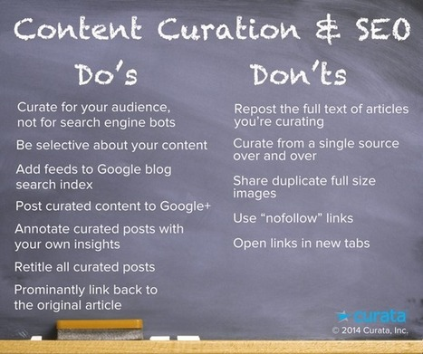 Content Curation & SEO: Infographic with Do's and Don'ts | e-commerce & social media | Scoop.it