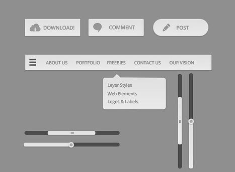 PSD Clean UI Kit | Vektorel cizimler | Scoop.it