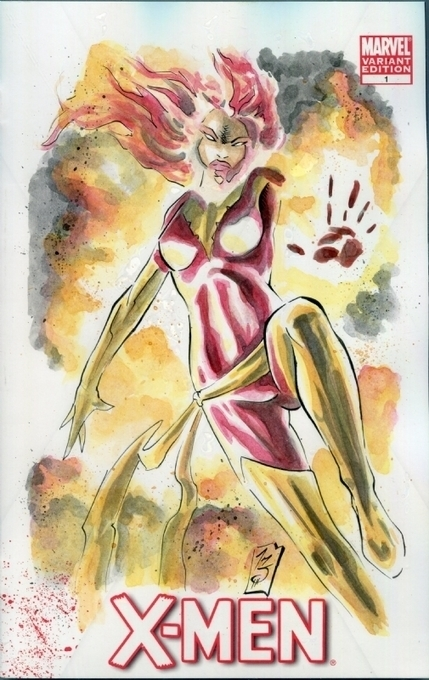 Slay - X-Men #1 - Phoenix, in PeterSambucci's Blank Comic Sketch Art Comic Art Gallery Room - 1195761 | Savvy Comics | Scoop.it