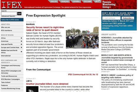 IFEX | Top sites for journalists | Scoop.it