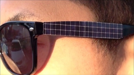 Solar-panel sunglasses recharge your iPhone in the evening | Funky renewable ideas | Scoop.it