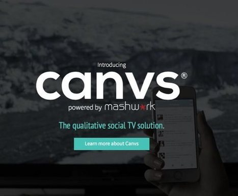 Canvs Twitter TV content from Nielsen creates world-first in social TV   Socialart   Scoop.it