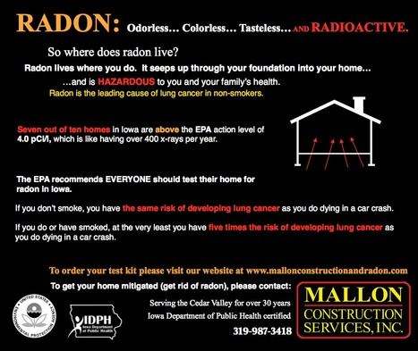 Test your home now for radon radiation now! | The seriousness of Radon... | Scoop.it